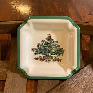 Vintage Spode Christmas Tree Ashtray England